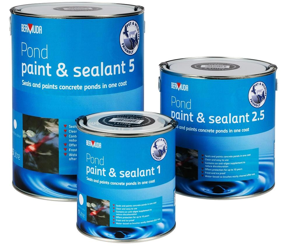 Bermuda pond paint matt black 1 litre for Koi pond sealer